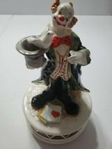 "Clown Magician Revolving Music Box ""Send In The Clowns"" Schmid #270 Beautiful - $34.64"