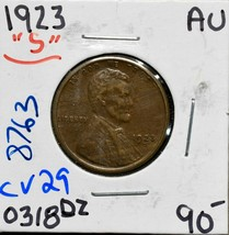 1923S Lincoln Cent Coin Lot# CV29