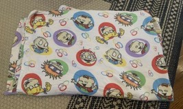 Vintage Nickelodeon Rugrats TWIN Flat Sheet FLANNEL Material - $15.88