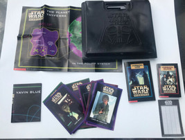 STAR WARS SCHOLASTIC MISSIONS GAME IN DARTH VADER CASE 1997 - 14 Team Ca... - $9.89