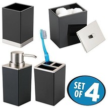 Bathroom Set Toothbrush Holder Soap Pump Tumbler Cup Durable Plastic 4Pc... - $32.99
