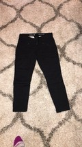 GAP Black Skinny Mini Zippers Biker Khaki Pants 02 - $7.99