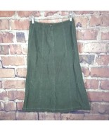 Lauren Ralph Lauren Womens Corduroy Skirt Size 8 Green Long  - $17.82