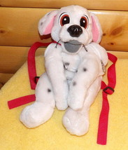 """Disney White Black Spotted Plush 17"""" Dalmatian Puppy Dog BackPack Carrier Tote - $9.59"""