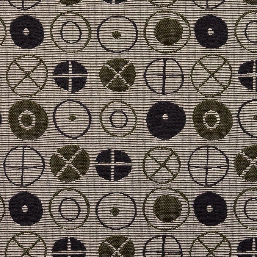 Maharam Tela para Tapizar Círculos por Eames Fatigue Gris 27.4m 458310 – 002 Qu