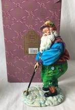Heirloom Tradition Yuletide Reflection Santa Golfer Figurine Hamilton Gi... - $24.95