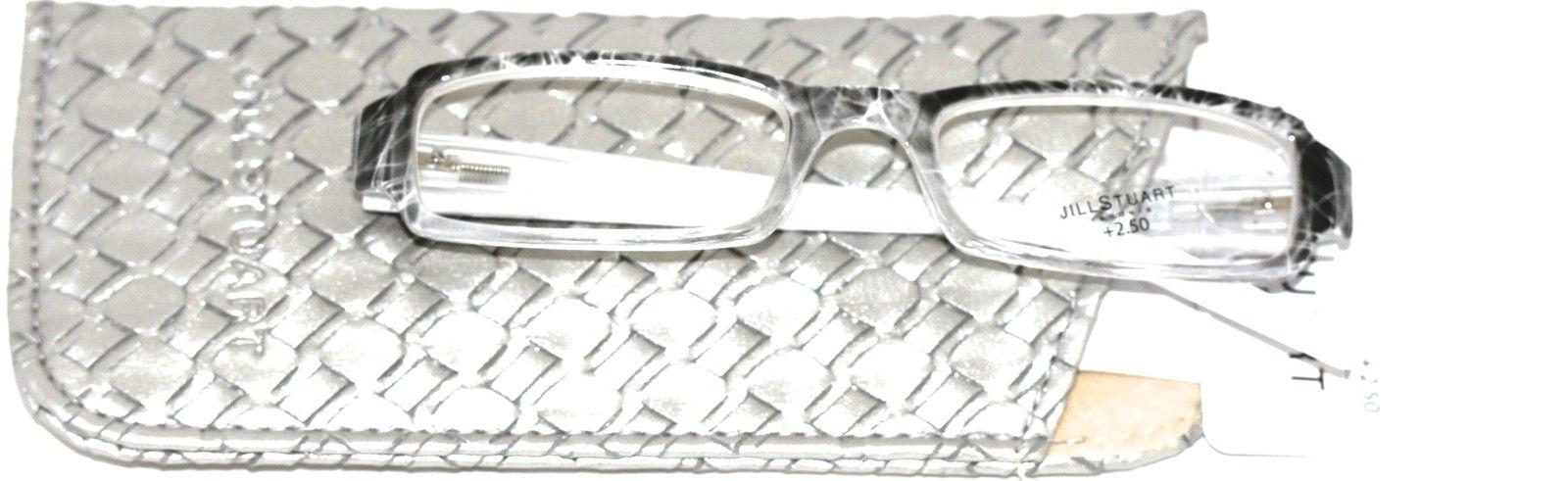 Jill Stuart Reading Glasses JSR3 Grey Marble Fade Plastic 2.5 Power