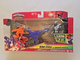 2015 Power Rangers Super Dino Charge Dino Cycle & Graphite Ranger Bandai... - $29.99