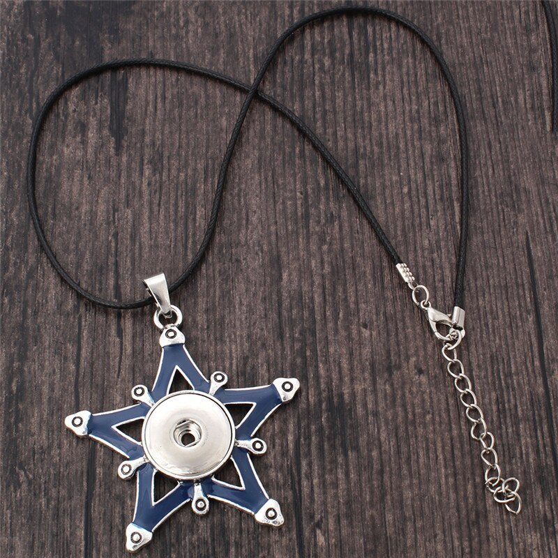 New Styles Metal Star 18mm Snap Button Necklaces & Pendants Snap Jewelry DIY Jew image 4