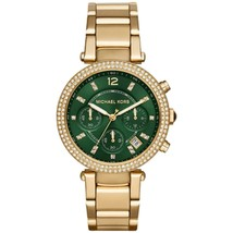 Michael Kors MK6263 Parker Green Dial Chronograph Watch for Women - $113.75