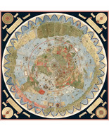 1587 Flat Earth Map of the World Urbano Monte Historic Wall Poster Globe... - $12.87+