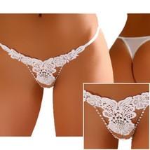 érotique sexy string tanga string M L XL 36 38 40 blanc neuf 647 Lingeri... - $11.06