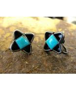 Romantic Estate Vintage Turquoise Screw Back Earrings - $39.59