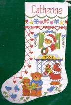 Dimensions Christmastime Bears Toy Shoe Christmas Cross Stitch Stocking ... - $37.95