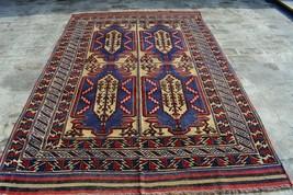 6' x 8'8 Ft Stunning Handmade Afghan Barjasta Persian area vintage Cauca... - $612.00
