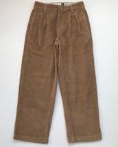 GAP Kids Boys Beige Tan Corduroy Pants Size 7 Adjustable Waist Pleated E... - $7.91