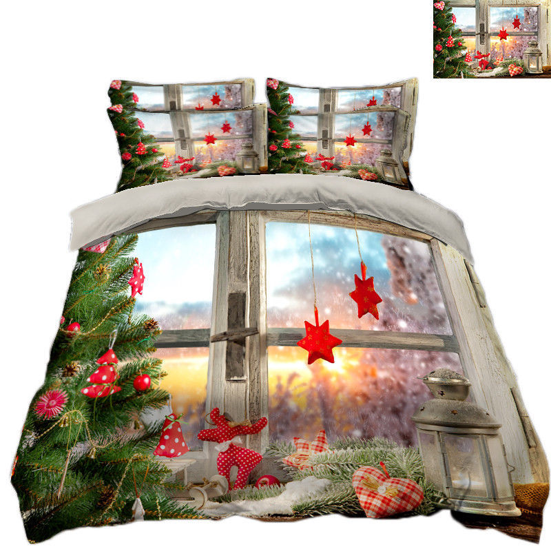 3D Christmas  Xmas 1113 Bed Pillowcases Quilt Duvet Cover Set Single Queen King - $90.04 - $122.20