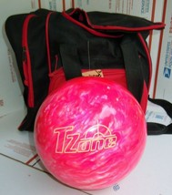 Brunswick Tzone Pink Bliss Bowling Ball 8.5 lbs & bowling bag NEW NO DRI... - $89.09