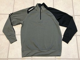 Vintage Kappa Sweatshirt Men's Size X Large 1/2 Zip Pullover Gray And Black - $33.62