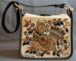 Vintage Enid Collins of Texas Jeweled Canvas Box Handbag Purse Money Tre... - $54.99