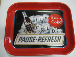Coca Cola Metal Pause-Refresh Tray - New - - $11.39