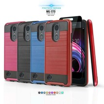 for LG ARISTO 3, [Protech Series] Phone Case Shockproof Cover +Tempered ... - $20.00