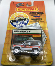 Matchbox Ford Bronco II Car And Driver Collector Cards NIP 1989 - $13.99
