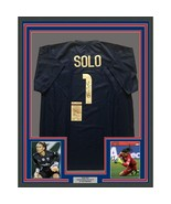 FRAMED Autographed/Signed HOPE SOLO 33x42 Blue United States USA Jersey ... - $399.99
