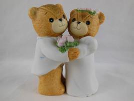 "Lucy & Me Bride & Groom Wedding Day Teddy Bear Figurine Enesco 3.25"" - $6.92"