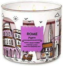 Bath & Body Works ROME Pizzeria Large 3 Wick Candle Highly Scented RARE New - $24.96