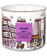 Bath & Body Works ROME Pizzeria Large 3 Wick Candle Highly Scented RARE New - $24.17
