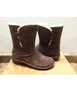 UGG KIMBRA CHOCOLATE WATER RESISTANT SUEDE LEATHER BOOTS US 8 / EU 39 / ... - $116.88