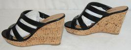 City Classified Layka S Black Sandal Wedge Heel Size Six image 5