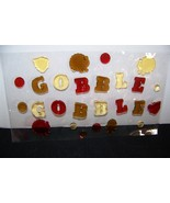 "(1) Window Gel Art, Thanksgiving Fall Collection ""Gobble Gobble"" - $5.00"