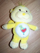 "9"" Care Bear Cousin Playful Heart Monkey Plush Yellow Heart Tummy Party ... - $16.00"