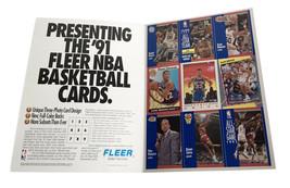 1991-92 Fleer Basketball Promotional Uncut 9 Card Sheet - $10.39