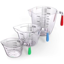 Liquid Measuring Cups Set  3 Pc Plastic BPA Free Stackable Kitchen Cooki... - £13.07 GBP