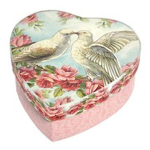 Michel Design Works Doves Hearts Flowers Box Soap and Dish Gift Set - $19.95