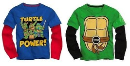 Teenage Mutant Ninja Turtles Toddler Boys Long Sleeve T-Shirt Size 2T,3T... - $13.29