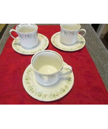 Johann Haviland Bavaria Germany Cups and Saucers Forever Spring  -Set of 3 - $12.99