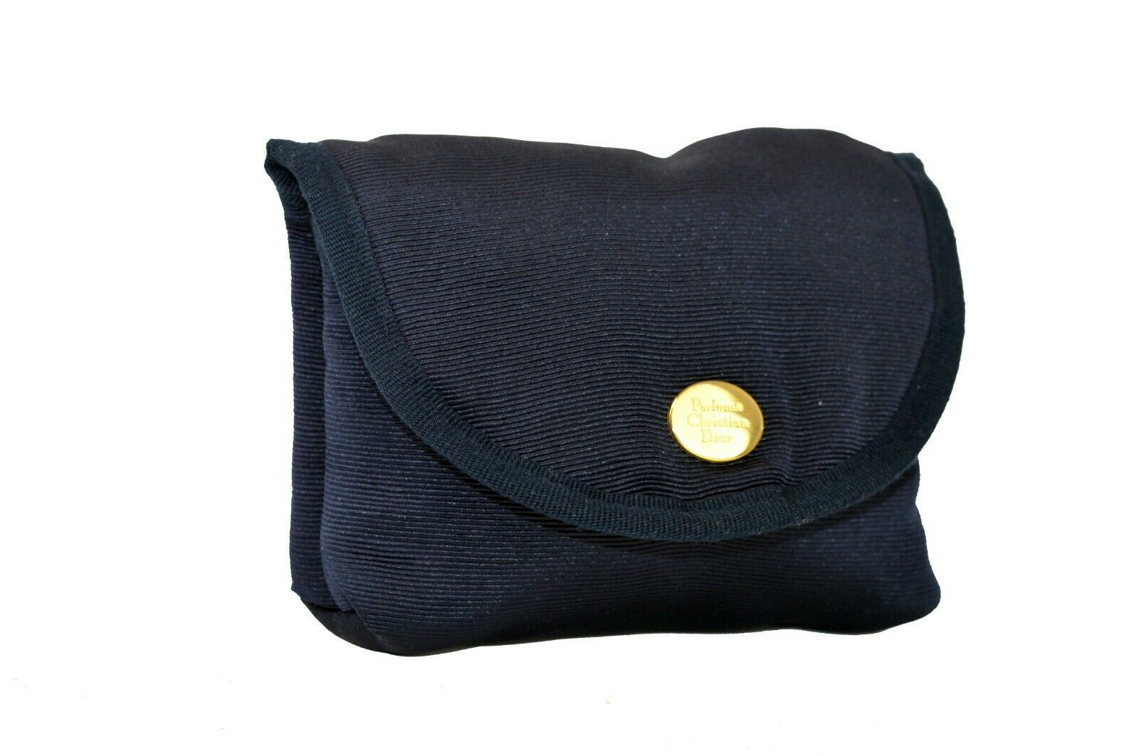 Christian Dior Parfums Logo Navy Small Pouch Make Up Case Small Bag Accessories  - $127.71