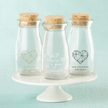 Personalized Printed Vintage Milk Bottle Favor Jar - Elements (3 Sets of 12)  - $65.99