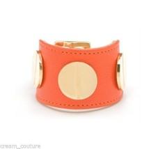 CC SKYE Orange Leather Giant Screw Cuff Bracelet NEW MSRP $160 HARD TO FIND - $95.99
