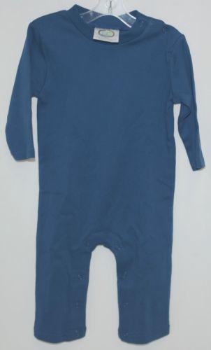Blanks Boutique Boys Long Sleeved Romper Color Blue Size 12 Months