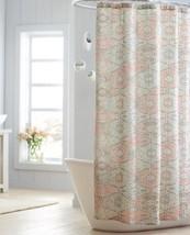 NWT Threshold AZTEC Fabric Shower Curtain Coral Brown Tan Bath Decor - $17.99