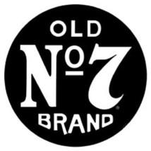 Jack Daniels Old No. 7 Vintage ROUND TIN SIGN Whiskey Bar Metal Wall Dec... - $13.99
