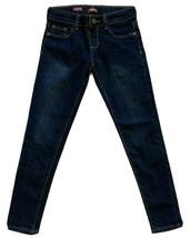 Arizona Jeans Co. Jeggings Dark Blue Wash Adjustable Waist Girl's Jeans - Size 8 - $12.82