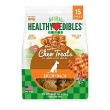 Nylabone HEALTHY EDIBLES 15 Chews Treats Bacon 16.4 Best By: 01/22 Small - $5.38 CAD