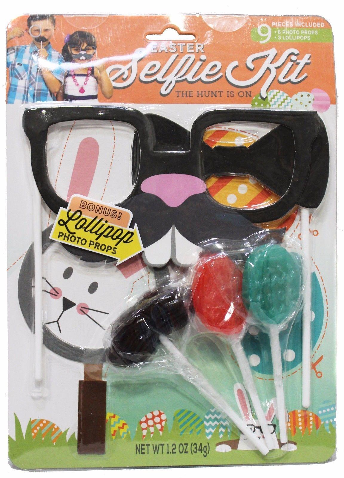 MODERN GOURMET* 9pc Set SELFIE KIT Photo Props+Lollipops EASTER New *YOU CHOOSE*