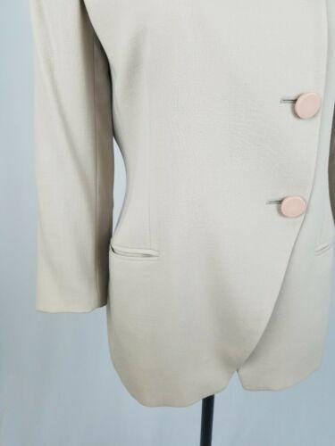 Giorgio Armani Damen 6 Asymmetrisch Wolle Blazer Gefüttert Italien
